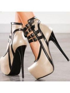 bd3d5821d1efc6 Hollow Contrast Color Stiletto Heel Women Pumps