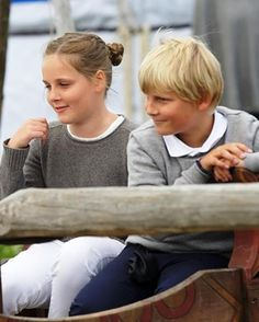 Norwegian Princess Ingrid Alexandra and Prince Sverre Magnus attend The Saint Olav Festival on July 24, 2015 in Stiklestad, Norway.
