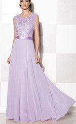 GRACE Lace Chiffon Dress - Lavender Lilac
