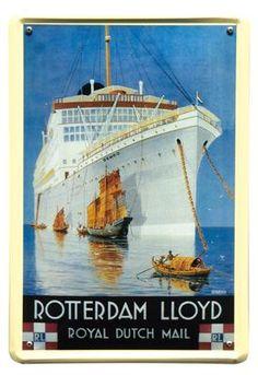 Rotterdam LLoyd mail 20x30 | Blikken borden 20x30 | www.19toen.nl