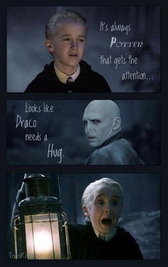 Because hugs from Voldemort are always awkward.