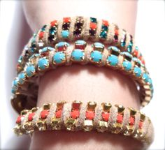 rhinestone rinestone rhine stone chain bracelets diy tutorial