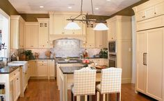 1000 images about kitchen on pinterest eggshell for Buttercream kitchen cabinets