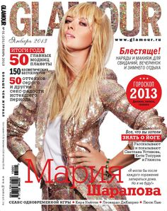 Maria #Sharapova makes the cover of Russia's Glamour magazine