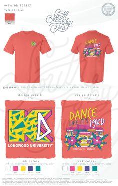 Kappa Delta | KD | Dance Like It's 19KD | 90s Theme | 80s Theme | Retro Throwback Shirt Design | South by Sea | Greek Tee Shirts | Greek Tank Tops | Custom Apparel Design | Custom Greek Apparel | Sorority Tee Shirts | Sorority Tanks | Sorority Shirt Designs