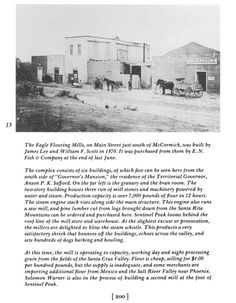 The Eagle Flouring Mills - Tucson Arizona  A TOUR OF TUCSON - 1874 Thomas H. Peterson, Jr. The Journal of Arizona History Vol. 11, No. 3 (Autumn 1970), pp. 179-201 Published by: Arizona Historical Society Stable URL: http://www.jstor.org/stable/41695565 Page Count: 23