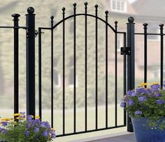Fabulous Wooden fence kits lowes,Modern fence design philippines and 7 privacy fence. Wrought Iron Garden Gates, Metal Gates, Metal Fences, Garden Gates And Fencing, Vinyl Fencing, Fence Landscaping, Backyard Fences, Pool Fence, Unique Garden