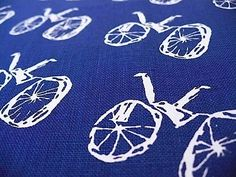 MY BIKE screenprinted fabric
