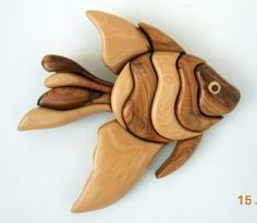 Angel Fish Coastal Cypress Plus Intarsia Woodworking, Woodworking Patterns, Woodworking Furniture, Woodworking Projects, Wooden Fish, Wooden Art, Wood Wall Art, Bois Intarsia, Intarsia Wood Patterns