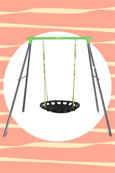 The Cellar metal swing set, with its nest swing can be as relaxing as a hammock gently swaying in the breeze, but it can also take little thrill seekers on high flying adventures. Watch them soar through the sky on a magic ride or glide at their own speed. #lifespankids