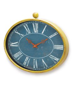 Navy Olivia Wall Clock by Foreside