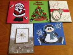 Christmas card variety set 5 by DaisyCreationsbyJess on Etsy