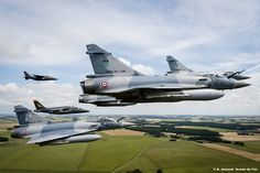 French Air Force Dassault Mirage 2000Cs and Dassault-Dornier AlphaJets