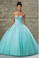 Novo 2015 Vestido De Festa turquesa vestidos Quinceanera 15 anos Ragazza Ruffled Organza doce 16 Debutante Pageant vestidos De baile