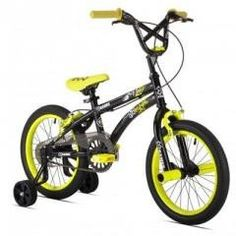 "Bicycle 16"" Boys X Games Regular price$ 126.99 Add to Cart Kent Bicycles 16"" Boys X Games FS16  16"" Boys X Games FS16 Bike with Front Pegs, Training Wheels, 4-bolt Alley Stem, BMX X games Saddle, Front and Read Hand Brakes, Tig Welded Steel Frame & Fork, Quick-release Seat Post Clamp."