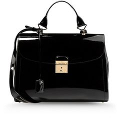 MARC JACOBS Large leather bag ($458) ❤ liked on Polyvore featuring bags, handbags, shoulder bags, purses, bolsas, borse, black, marc jacobs shoulder bag, shoulder strap bag and hand bags