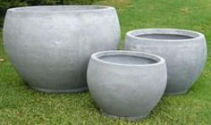 Lightweight Round Pot from Millory H550xD800 Cement