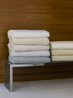 St. Moritz is plush and velvety, woven from long-staple combed cotton that has been brushed for softness and warmth.