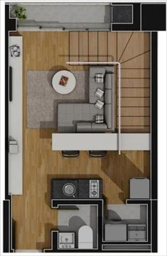 apartamento planta tipo piso inferior 52,95m2