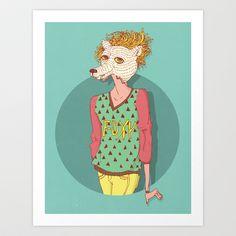 foxy Art Print by Yna Cruz - $18.00