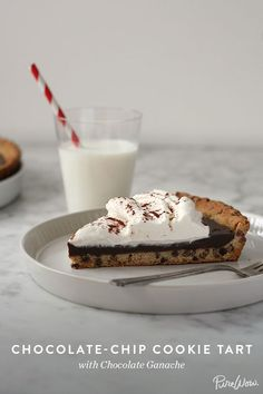 An easy way to perfect death by chocolate: Chocolate-Chip Cookie Tart with Chocolate Ganache.