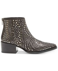Vince Camuto Edenny Studded Pointed-Toe Booties $229.00 Shining studs swirl in metallic brilliance on the sleek pointed-toe design of these Edenny ankle booties from Vince Camuto.