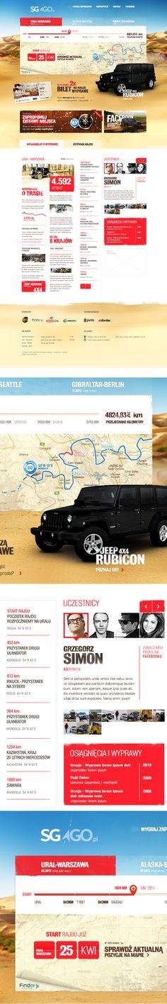SGGO - World Adventure Web design