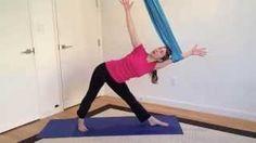 Unnata® Aerial Yoga Mini Class videos.  https://www.youtube.com/user/UnnataAerialYoga/videos