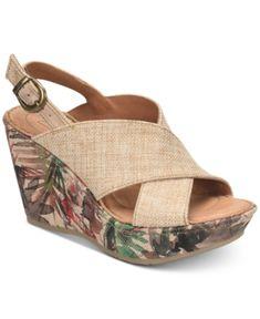 c57f7443dfc1 Born Emmy2 Wedge Sandals   Reviews - Sandals   Flip Flops - Shoes - Macy s