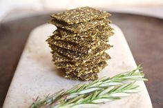 These kale rosemary super seed crackers are healthy flavor bombs full of  nutritious ingredients. They're gluten free and vegan and great on their  own, or with your favorite dip or spread.