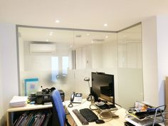 Interior glazed acoustic walls for Quietus Management in Westminster, London. Glass Office Partitions, Glass Partition, Glazed Walls, Acoustic Wall, Noise Reduction, Westminster, Management, Vanity, London