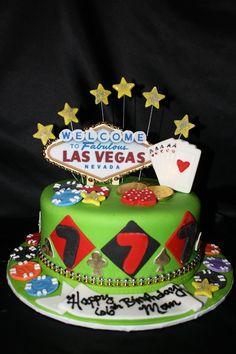 Las Vegas Cake — Poker Cakes / Casino Gambling