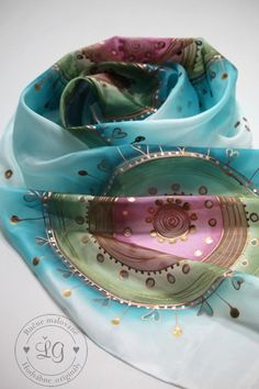 Šály - pestré ornamenty - 3767864_