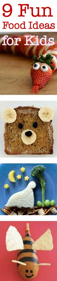 Fun food ideas for kids. Posted by Bethany Marcello on craftfoxes.com. #Food #Yum #Kids