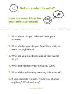 5 Hints for Helping Young Students Generate Artist Statements - The Art of Ed