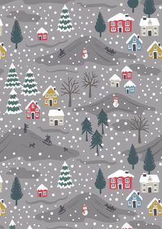 Cotton Rich Linen Look Fabric Scandinavian Christmas Deer Fox Snow Upholstery