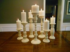 How to transform mismatched candlesticks into a dramatic table display.