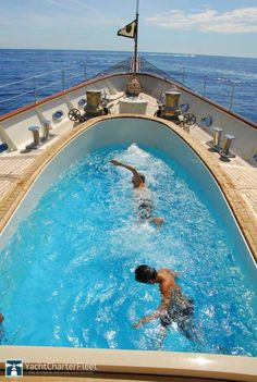 Amazing pool on Neo Classic superyacht - Nero yacht charter 90m /295ft | Corsair Yachts | 2008 #YachtCharters More photos & details visit: http://www.yachtcharterfleet.com/luxury-charter-yacht-22349/nero.htm