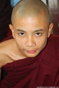 Monk at Pa-Auk-Taw-Ya Monastery south of Mawlamyaing, MYANMAR