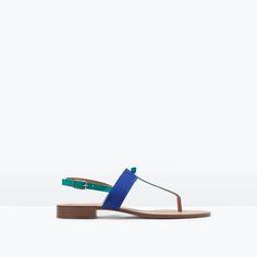Image 1 of THREE-TONE FLAT SANDAL from Zara