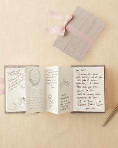 Martha Stewart's Wedding Guest Book Ideas and Alternatives