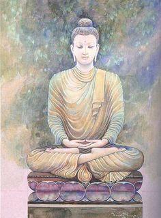 """I bathed myself in silence, wrapped warmly in the comfort of the quiet."" ~ Liz Newman Image: The Buddha ♥ lis Lotus Buddha, Art Buddha, Buddha Drawing, Buddha Artwork, Buddha Zen, Buddha Painting, Buddha Buddhism, Buddhist Art, Reiki Angelico"