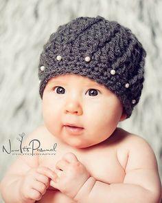 Crochet Hat Pattern Spiral Rib Beanie Crochet Pattern Newborn to Adult Sizes