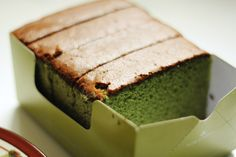 Green tea castella
