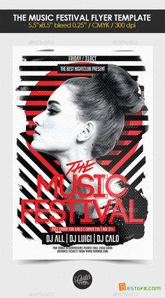 Flyer Template PSD - The Music Festival