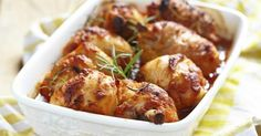 A quick and easy chicken dinner that is guaranteed to tantalize the taste-buds with a savory flavor and a hint of sweet. Slow Cooker Appetizers, Slow Cooker Recipes, Low Carb Recipes, Cooking Recipes, Healthy Recipes, Diabetic Chicken Recipes, Baked Chicken Legs, Onion Soup Mix, Tasty Dishes