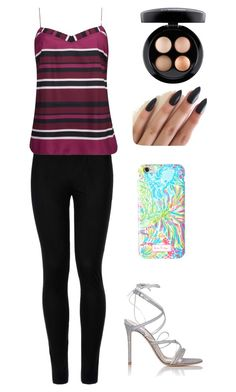 """""""Untitled #222"""" by monkeyblooo ❤ liked on Polyvore featuring Wolford, Ted Baker, Gianvito Rossi, Lilly Pulitzer and MAC Cosmetics"""