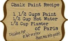 Recipe for Milk Paint                                                                                                                                                     More