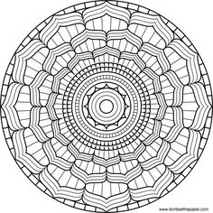 This is a great coloring page to give mamas who need something to focus on during their birth. Don't Eat the Paste: Lotus Mandala to color