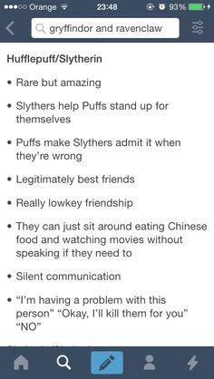 Hufflepuff x Slytherin